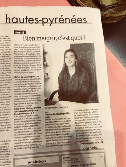 article de presse EGEA Lorianne